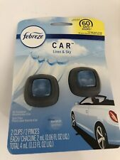 Febreze Linen & Sky 2 Pk Auto Car Clips Air Freshener