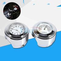 """7/8"""" 1"""" Moto Manillar del reloj montaje Dial Reloj y termómetro de temperatura"""