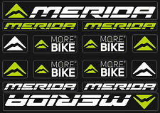 Merida Bicycle Frame Decals Stickers Graphic Adhesive Set Vinyl White Green