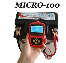 12V Car Battery Tester Auto Vehicle Battery Analyzer AGM CCA GEL MICRO-100
