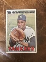 *** 1967 TOPPS #25 ELSTON HOWARD NY YANKEES— AUTHENTIC AUTOGRAPH🔥***