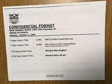 5f2f155615 WCW WRESTLING MONDAY NITRO ON TNT 1998 REPRODUCTION CONFIDENTIAL TV SCRIPT  FLAIR