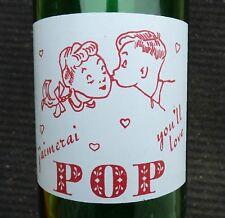 Quart size POP BRAND 30oz ACL 'Kids kissing' soda pop bottle Quebec FREE SHIP!