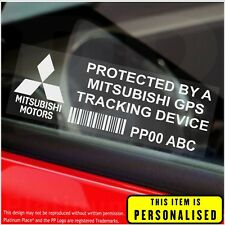 4 x Mitsubishi PERSONALISED GPS Tracking Device-Security Stickers-Alarm-Tracker