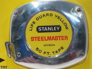 "Vintage 1979 Stanley Professional Steel Master Long Tape 50ft 3/8"" 34-350"