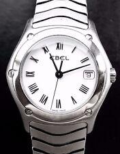 EBEL CLASSIC WAVE 27MM EXTRAVAGANTE HOCHFEINE STAHL LEDIES ARMBANDUHR 9087F21
