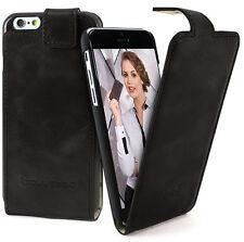 "FLIP GENUINE LEATHER case for APPLE iphone 6 PLUS (5.5"") Rustic Black RST1 H1847"