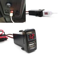 Car 5V 2.1A USB Port Dashboard Voltmeter Phone Charger For TOYOTA VIGO Tide