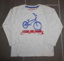 Dünnes LA-Shirt beige melliert mit BMX Bike in Gr. 104/110 von Tom Tailor - NEU