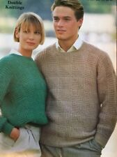 "Patons  DK Knitting Pattern 4103 Ladies Mens Jumper Sweater Size 30/46"" Chest"