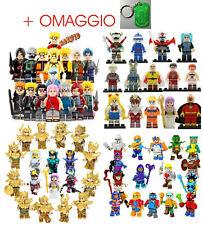 MINIFIGURES COMPATIBILI LEGO ANIME - Saint seiya Naruto Dragon ball, One Piece..