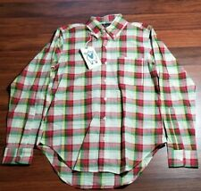 Woolrich x Mark McNairy Woolen Mills, Long sleeve Plaid, Small, Red, Made in USA