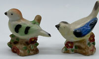 Vintage Ceramic Bird Figurines Hand Painted Japan