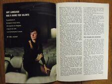 Janu 16, 1965 TV Guide(CATERINA VALENTE/DEBBIE WATSON/JULIE NEWMAR/PEYTON  PLACE