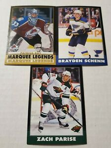 2020-21 O-Pee-Chee OPC 3-Card Black Border /100 SP Lot Patrick Roy,Schenn,Parise