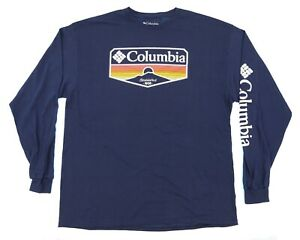 Men's COLUMBIA SPORTSWEAR Long Sleeve T-Shirt Size: 2XL