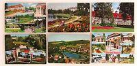 6 x BAD MEINBERG Postkarten Lot frankiert mit Briefmarken ab/nach 1963 gelaufen