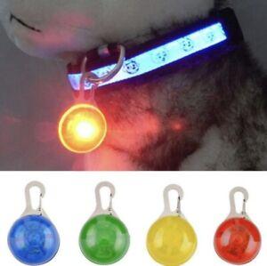 Waterproof LED Pet Dog Cat Collar Night Light Safety Clip Flashing Neon Pendant