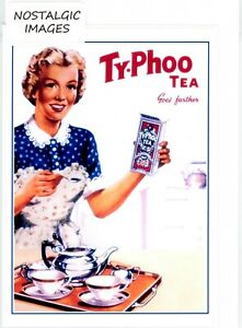 Nostalgic 1950's Typhoo Tea greeting card. Blank inside for many occasions.