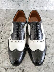 Allen Edmonds Black & White Broadstreet Spectator Shoes Size 10 A