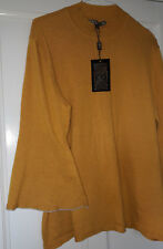 Mustard Yellow Jumper Biba 16 18 BNWT New Top Sweater Bell Sleeves Large