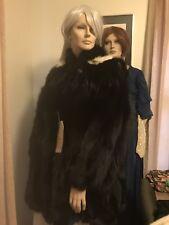 Black Fox Fur Coat Parka Jacket 2Xl Finland 2800 Nwt