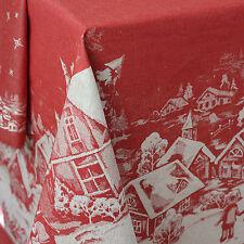 Runde Tischdecken mit Weihnachts-Muster fürs Esszimmer