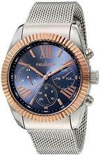 Peugeot Men's Multi-Function Stainless Steel Rose-tone Watch 1045TBL