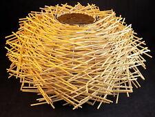 "MODERN BAMBOO Nest Single Hanging LIGHT PENDANT SHADE 16"" Wide 9"" Tall"