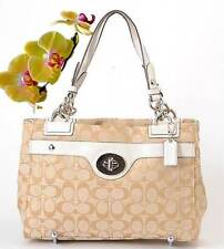 COACH Pennelop Signature Carryall - Khaki White F16540