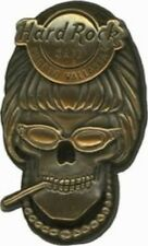 Hard Rock Cafe PUERTO VALLARTA 2007 3-D BRONZE Winged Smoking SKULL Series PIN