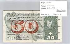 BILLET SUISSE 50 FRANCS  - 7-3-1973*