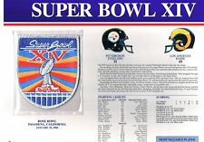 Super Bowl XIV LA Rams Pittsburgh Steelers Willabee Ward Jersey Patch Bradshaw
