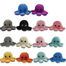 Cute Octopus Plush Toys, Double-sided Flip Octopus Doll - Reversible Stuffed Toy