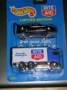 Hot Wheels Lot of 2 Rite Aid Limited Edition Delivery Truck & 1995 #474 VW Golf