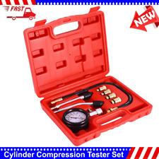 Auto Car Engine Cylinder Pressure Compression Tester Gauge Diagnostic Tool Set