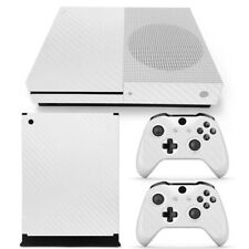 Xbox One S White Carbon Fiber Sticker Skin Decal for Console and Controllers