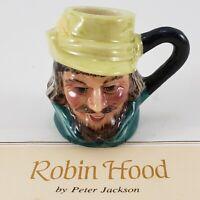 Franklin Mint Vintage Robin Hood Miniature Figure 1983 Toby Mug Jug Stein Signed