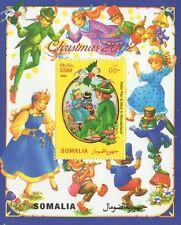 Navidad 2002 Peter Pan y Alicia en el país de las maravillas Somalia estampillada sin montar o nunca montada SELLO Sheetlet