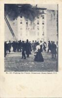 BROOKLYN NY - Coney Island Fighting The Flames Dreamland - udb (pre 1908)