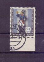 Berlin 1954 - Postillion - MiNr. 120 Randstück rund gest. - Michel 35,00 € (177)