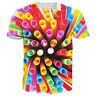 Colorful Tie-dye 3D Print Casual T-Shirt Fashion Women Men Short Sleeve Tops