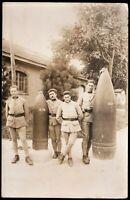 BOMBSHELLS GRENADES WW1 CANNON ARTILLERY ARMY WAR ANTIQUE RPPC POSTCARD PHOTO