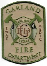 """Garland  S.W.A.T. MEDIC, Texas  (3.5"""" x 5"""" size) fire patch"""