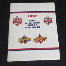 RARE 1997 AL/NL Division Series Media Guide Scorebook Unscored Torn Back Corner