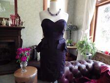 ELEGANT PORTMANS DRESS- NEW BLACK STRAPLESS PEPLUM COTTON CLUB COCKTAIL PARTY 10