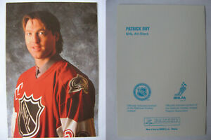 1998 Panini Patrick Roy All Star SP RARE oversize postcard