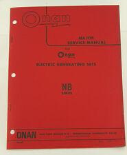Vintage ONAN NB Series Generator GenSet Major Service Manual