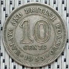 1953 - Malaya - 10 Cents Elizabeth II #CBOV