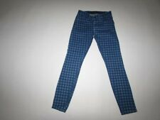Guess Women's Brittney Skinny Jeans Size 26 Ankle Low Rise Blue Houndstooth 26A